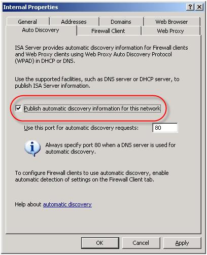 Web proxy auto discovery net
