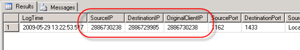 ISA 2006 IP Address Fields