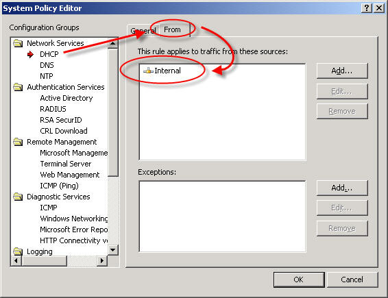 Reviewing the Microsoft ISA Server 2006 System Policy