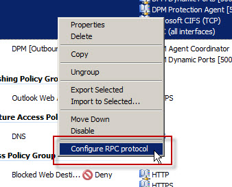 Configuring Forefront TMG for Microsoft System Center Data