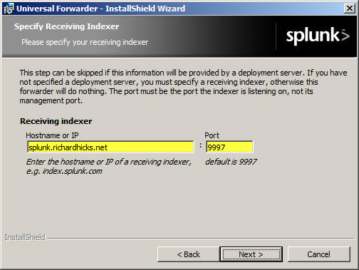 Configuring Splunk Universal Forwarder on Forefront TMG 2010