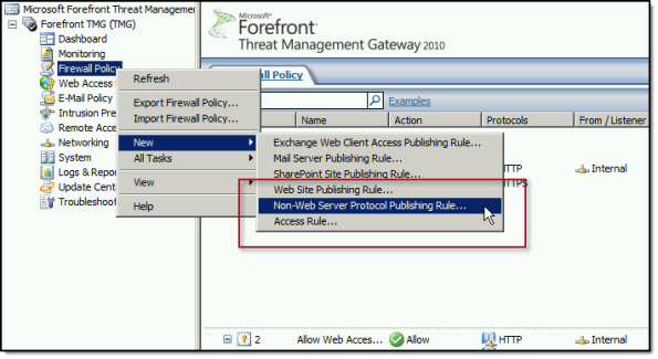 Publish DirectAccess with Forefront TMG 2010