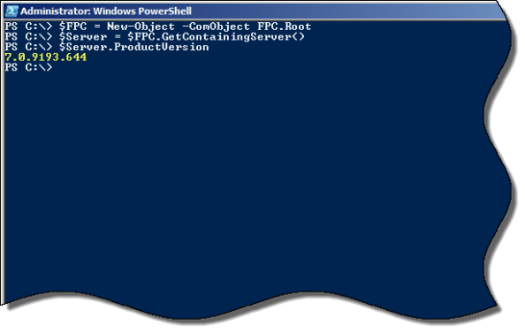 Using PowerShell to Determine Forefront TMG Build Number